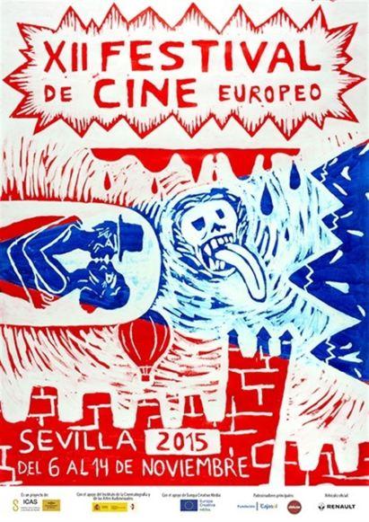 Cartel del Festival de Cine Europeo 2015. Obra de Crisitina Lama